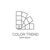 Color palette logotype design templates.