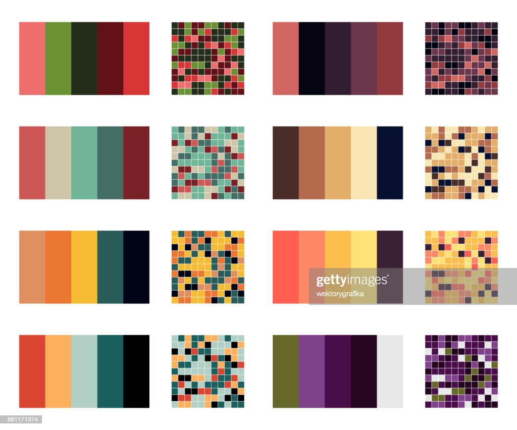 color palette set background. Harmony color combos spectrum