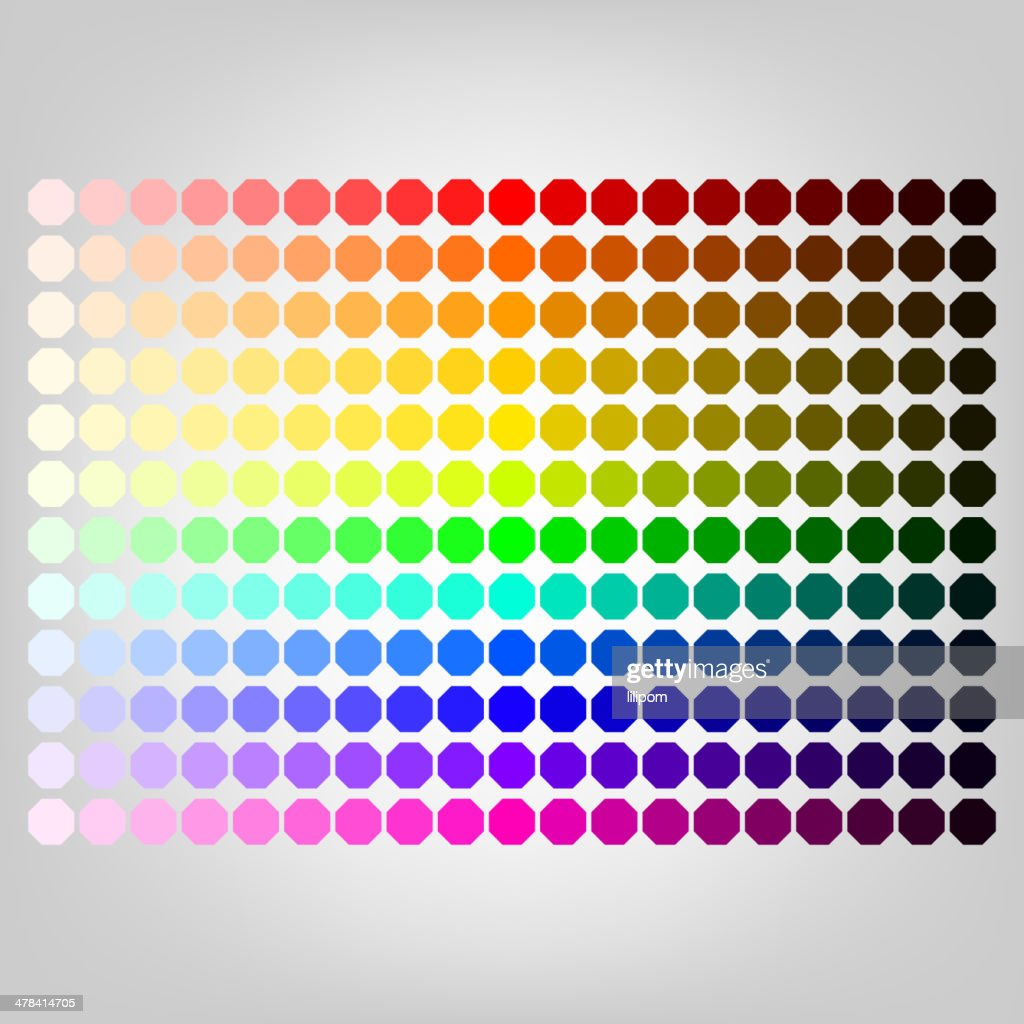 Color palette with shade of colors