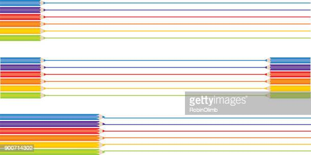 Color Pencil Lines Banners
