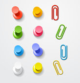 Color pins and clips collection