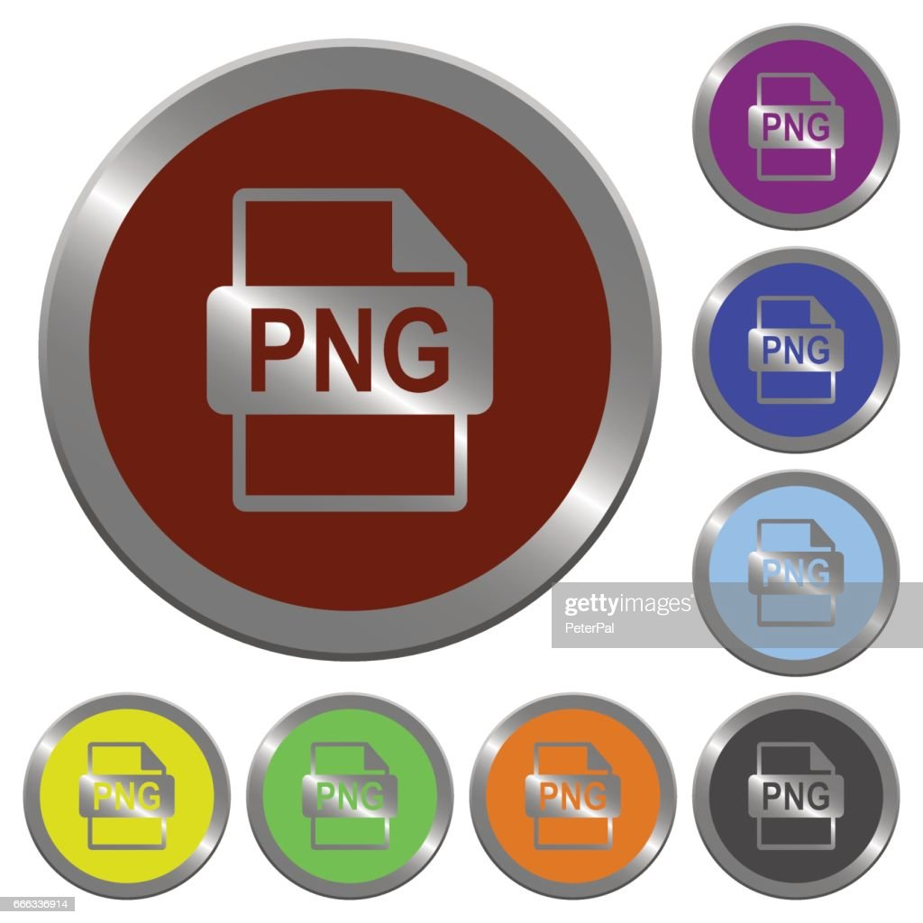 Color PNG file format buttons