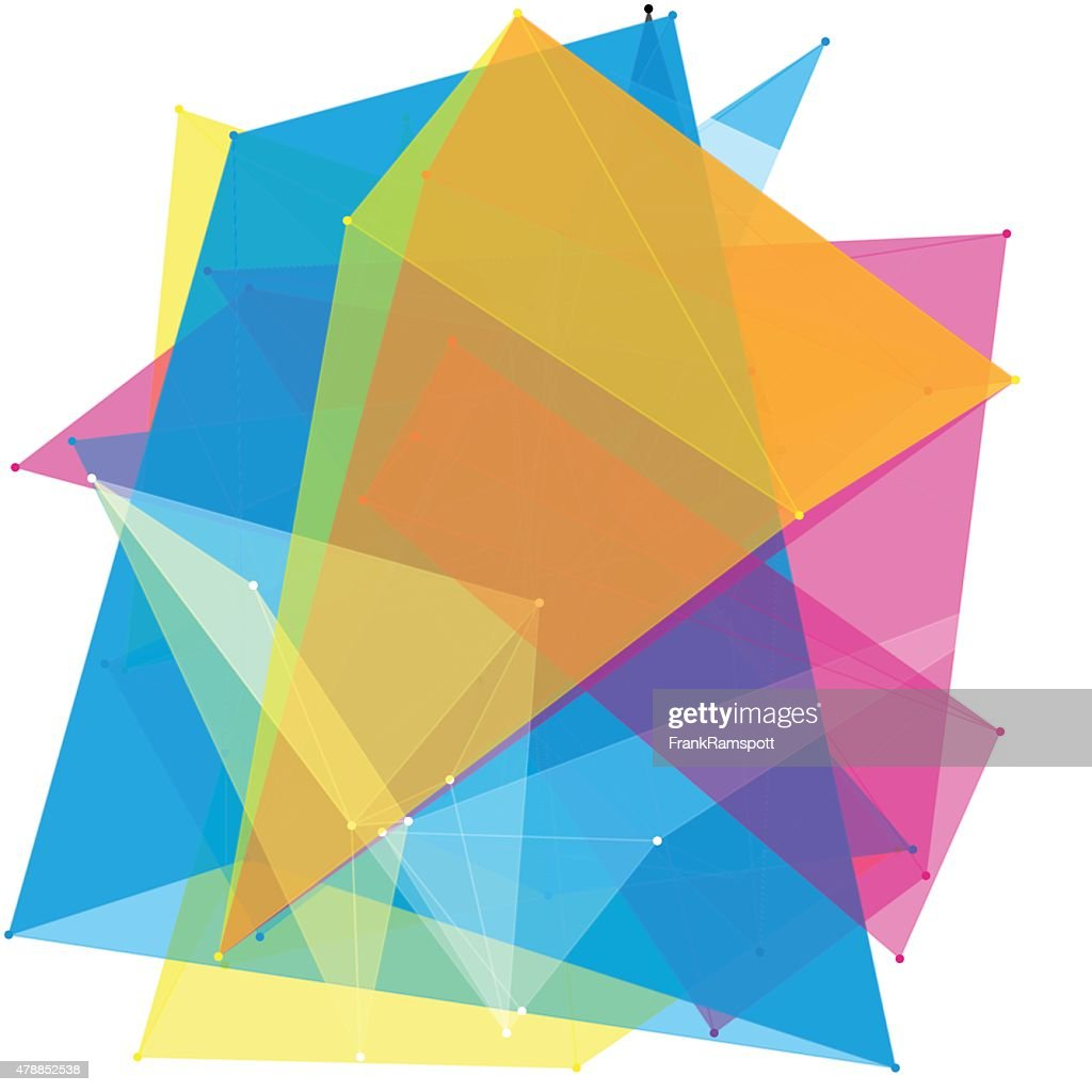 Farbe Polygon-Muster : Stock-Illustration