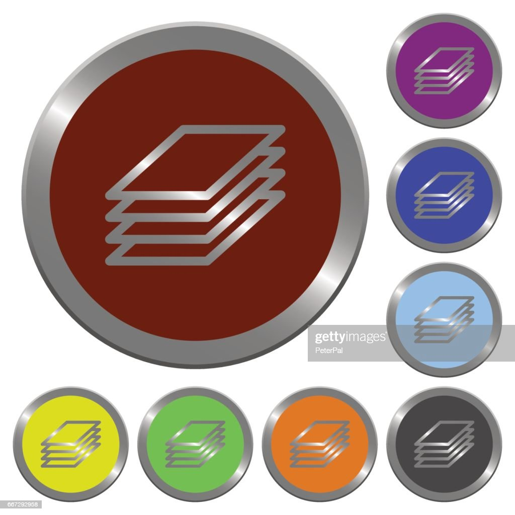 Color printing papers buttons