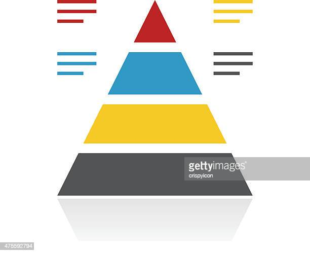 color pyramid icon - pyramid stock illustrations