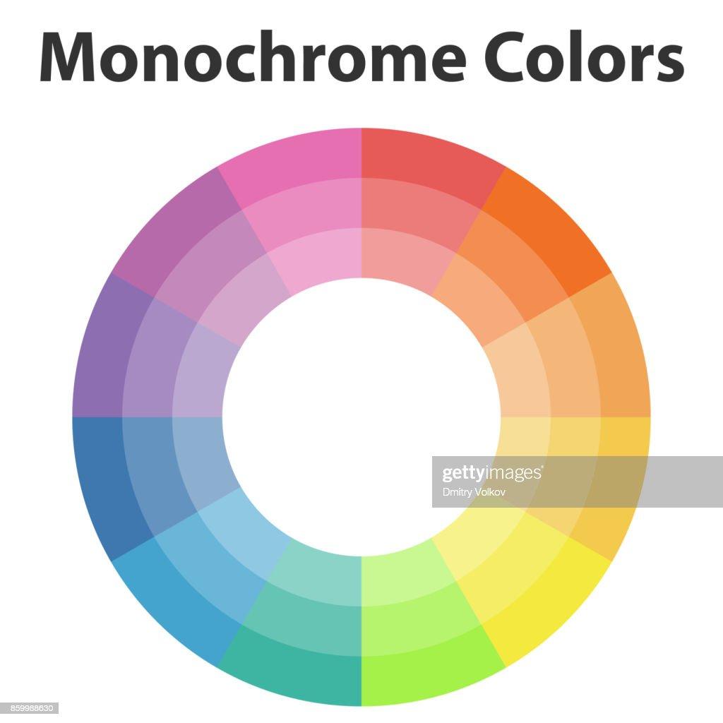 Color scheme, monochrome colors