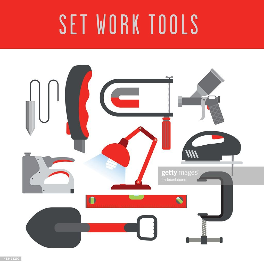 color set of tools
