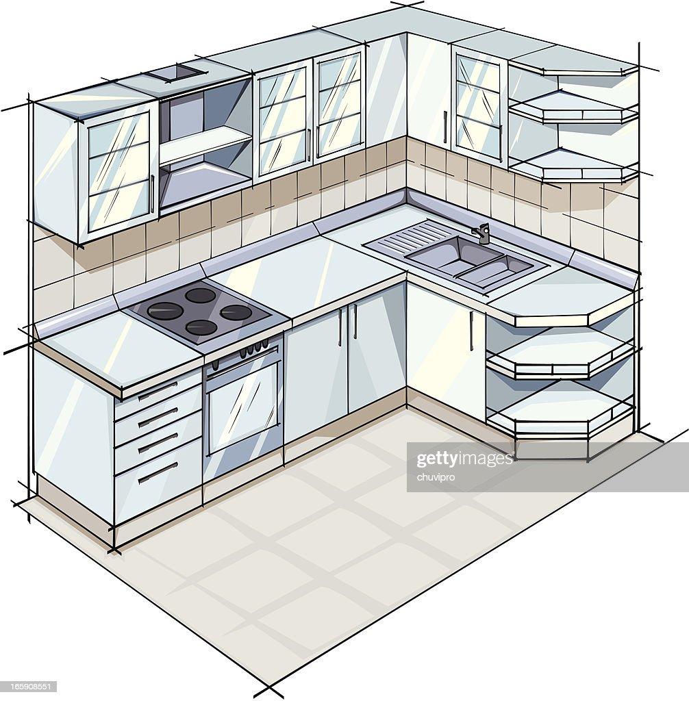 Bild Moderne Küche: Moderne Küche Vektorgrafik