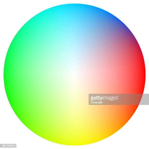 color spectrum circle on white background - manufacturing equipment stock illustrations