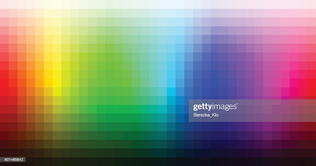 Color spectrum mosaic palette, hue and brightness. Vector
