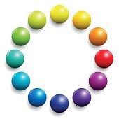 Color Spectrum Twelve Rainbow Balls