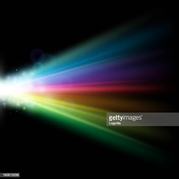 color spectrum vector - projection equipment stock illustrations