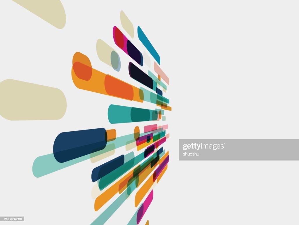 Patrón de franjas de fondo de color : Ilustración de stock