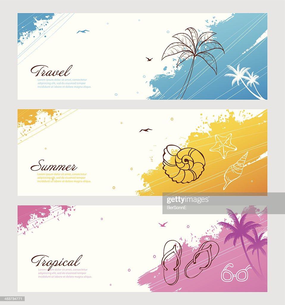 Color summer set with splash