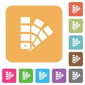 Color swatch rounded square flat icons