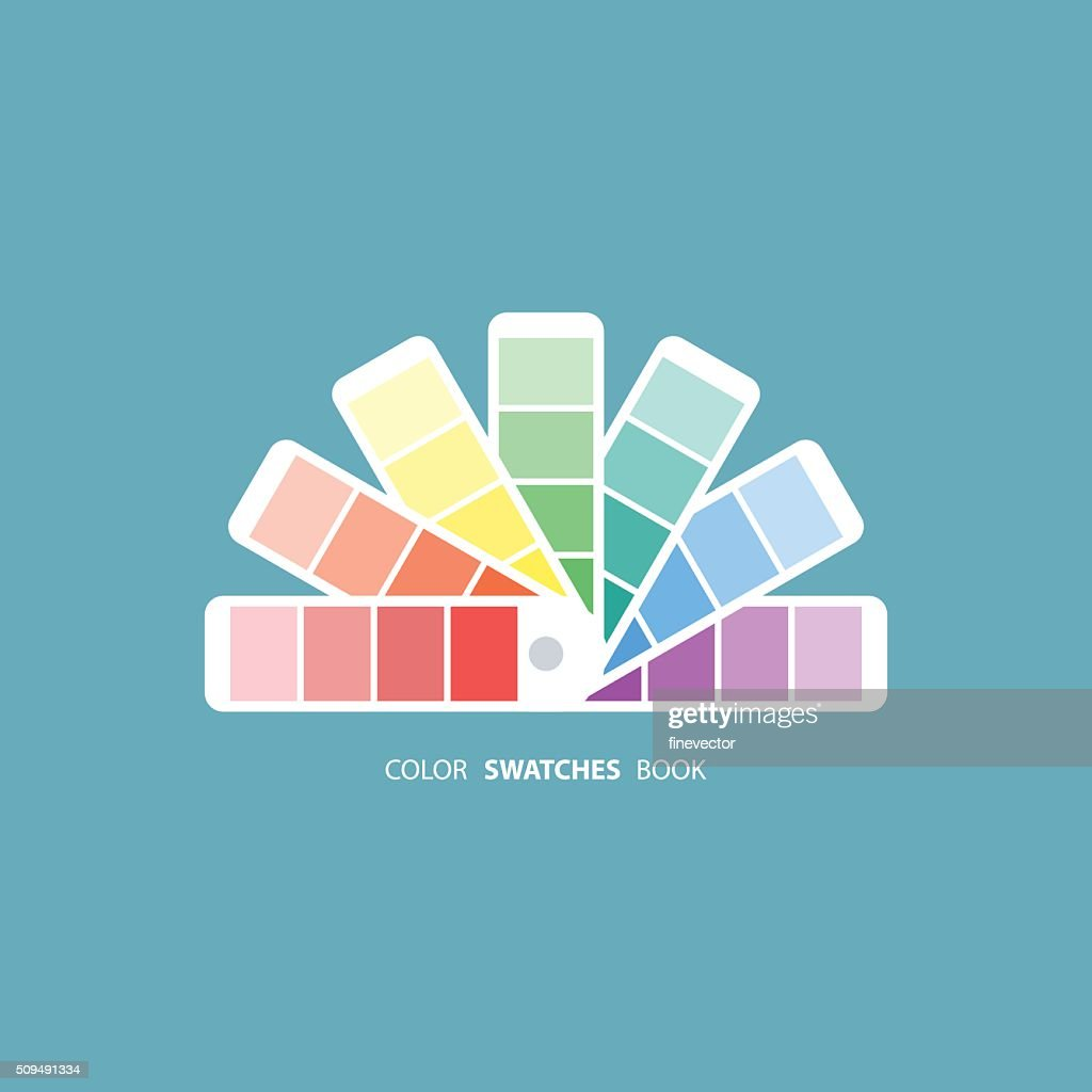 Color swatches book. Color palette guide