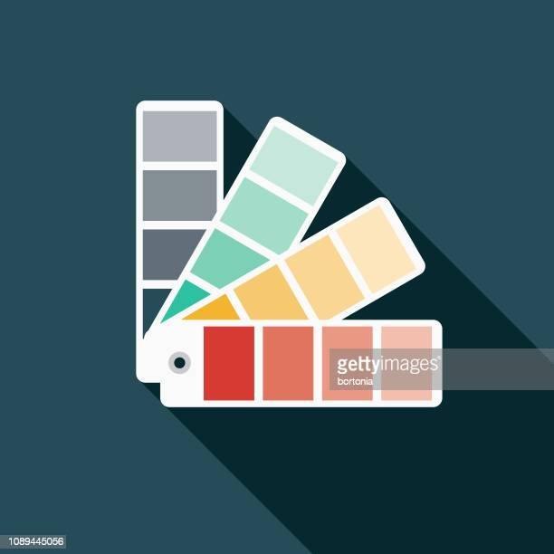 color swatches graphic design icon icon - interior designer stock illustrations