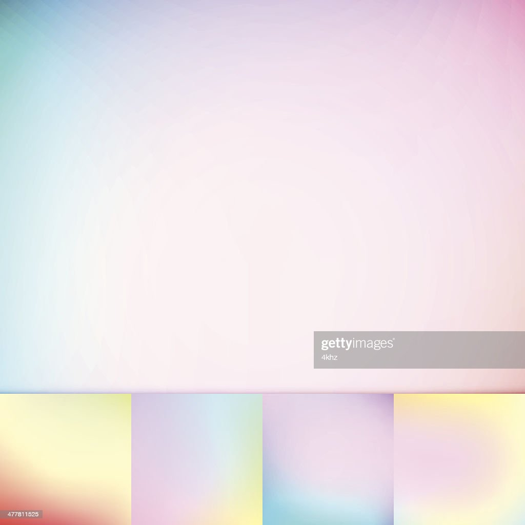 Color Trends Defocus Pastel Colors Soft Vignette Vector