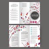 Color tri fold business brochure