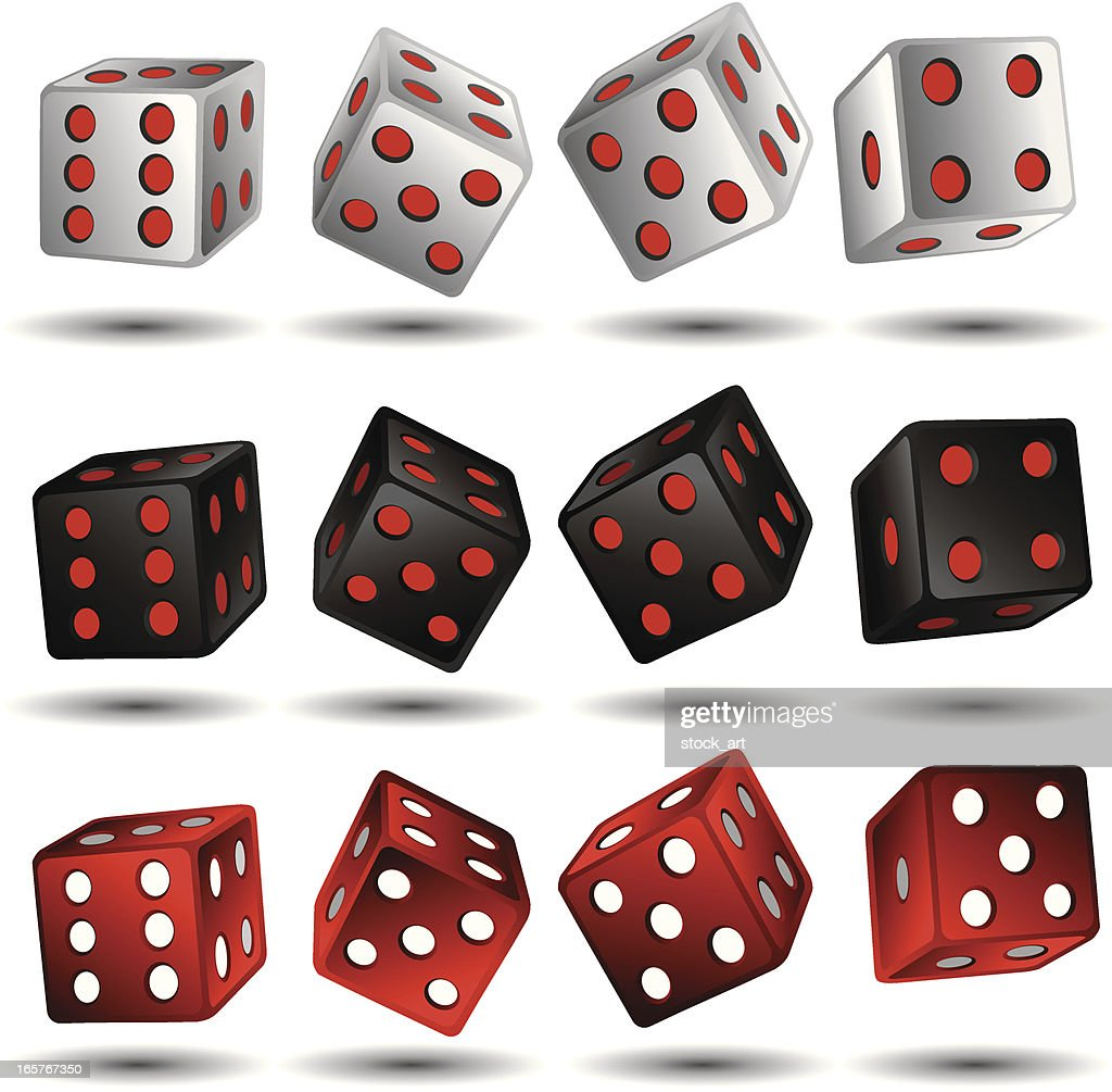 Color Variations Of Casino Dice stock illustration - Getty