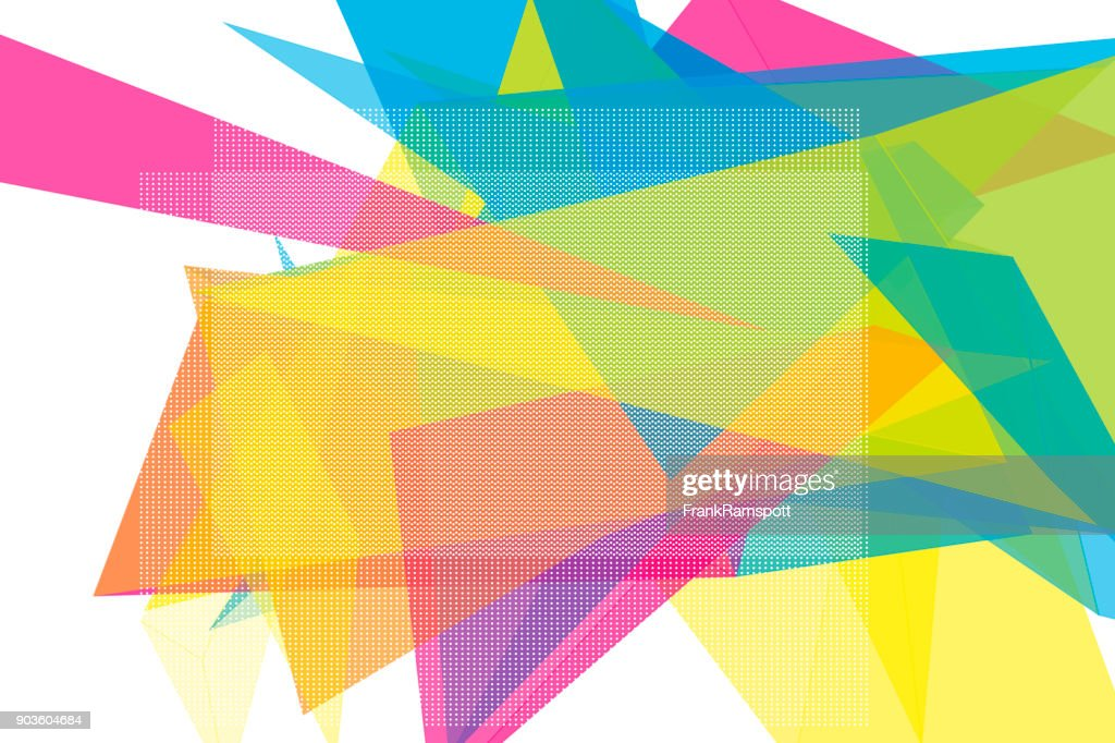 color vector polygon design pattern horizontal vector art getty images