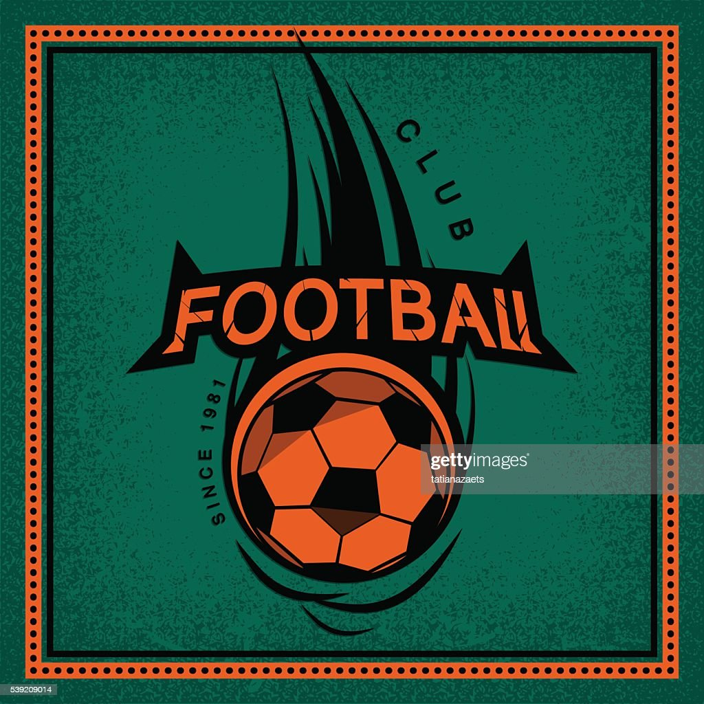 Color vintage and retro logo, badge, label football club with