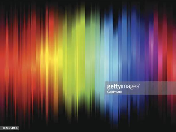 illustrazioni stock, clip art, cartoni animati e icone di tendenza di colore onda - elettromagnetismo