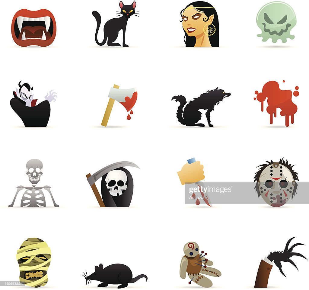 Color Web Icons - Horror