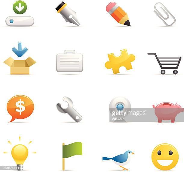 farbe web icons - sparschwein stock-grafiken, -clipart, -cartoons und -symbole
