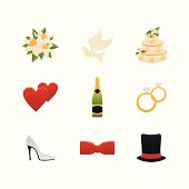 Color Wedding Icons