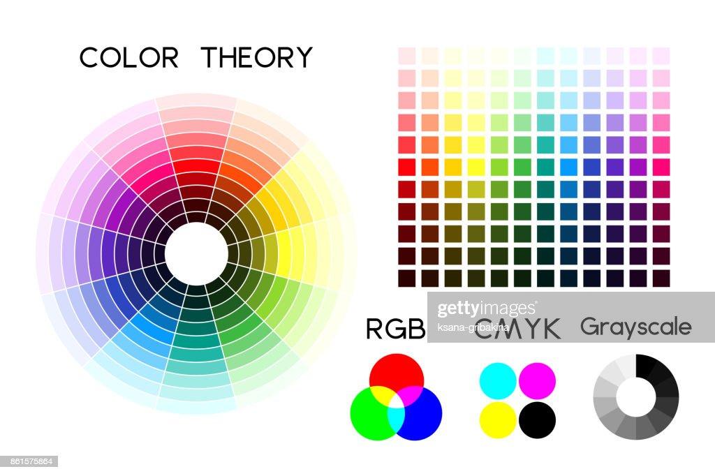 Color wheel and color palette. Vector illustration