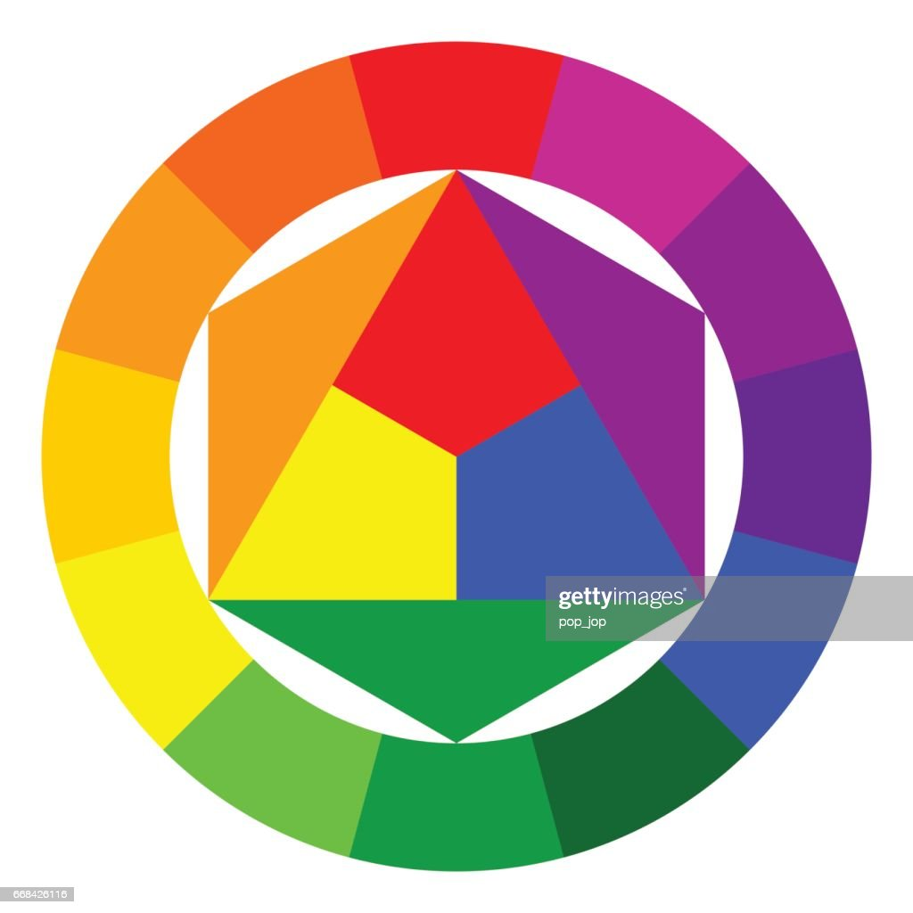 Color wheel and triangle - illustration