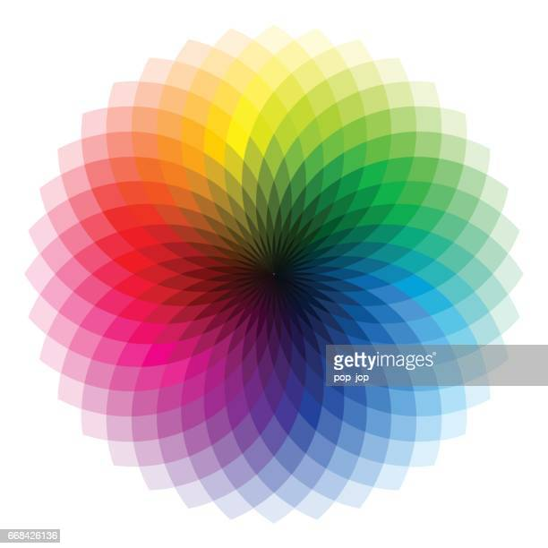 color wheel - illustration - color image stock illustrations