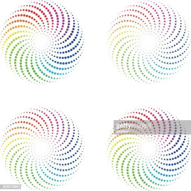color wheel - spiral stock illustrations