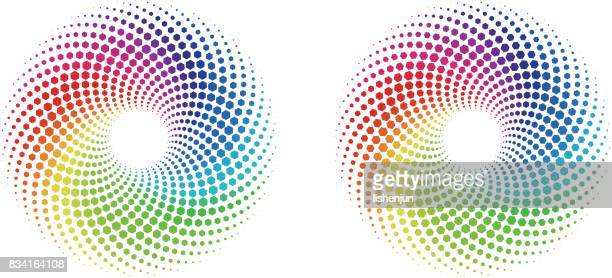 color wheel - spinning stock illustrations