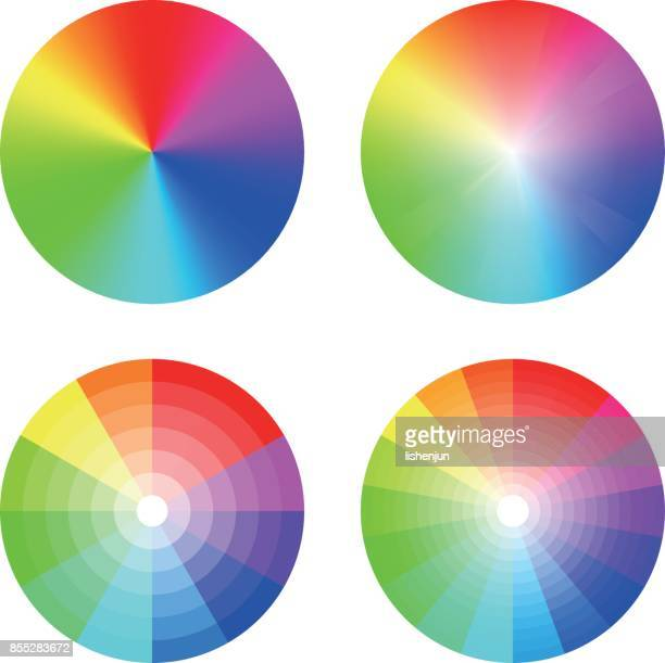 color wheel - rainbow stock illustrations, clip art, cartoons, & icons