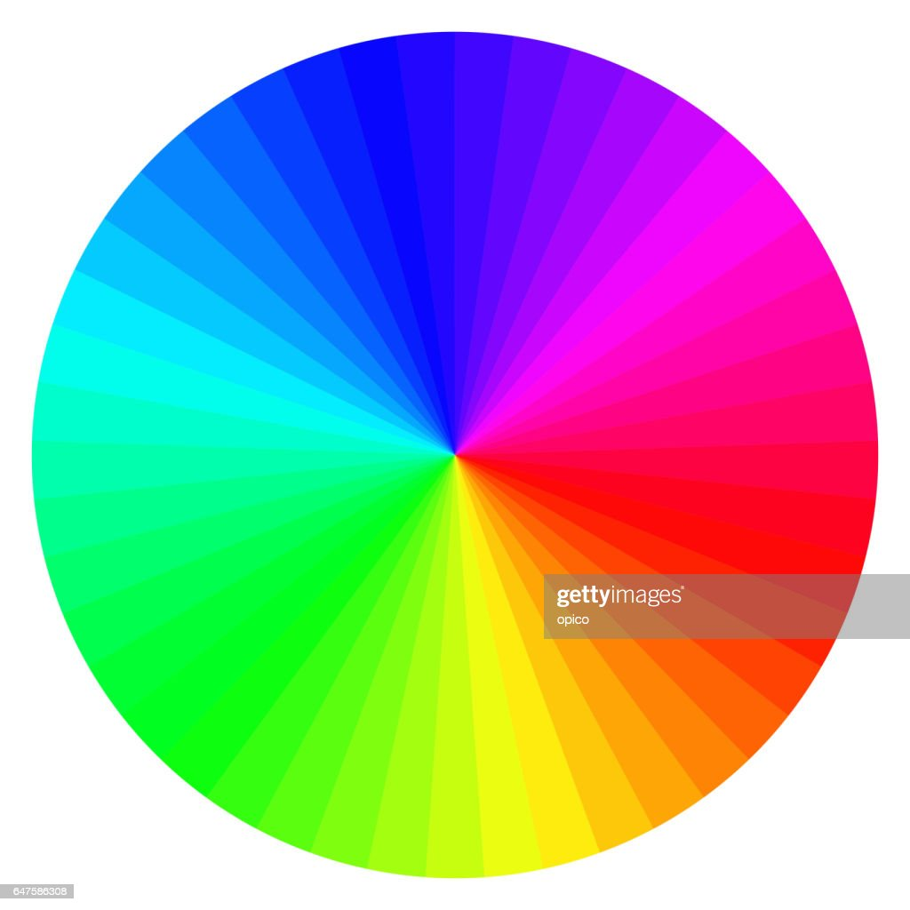 color wheel with different colors