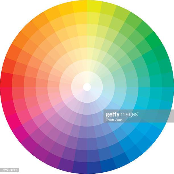 color wheel with graduation to white - color image stock illustrations