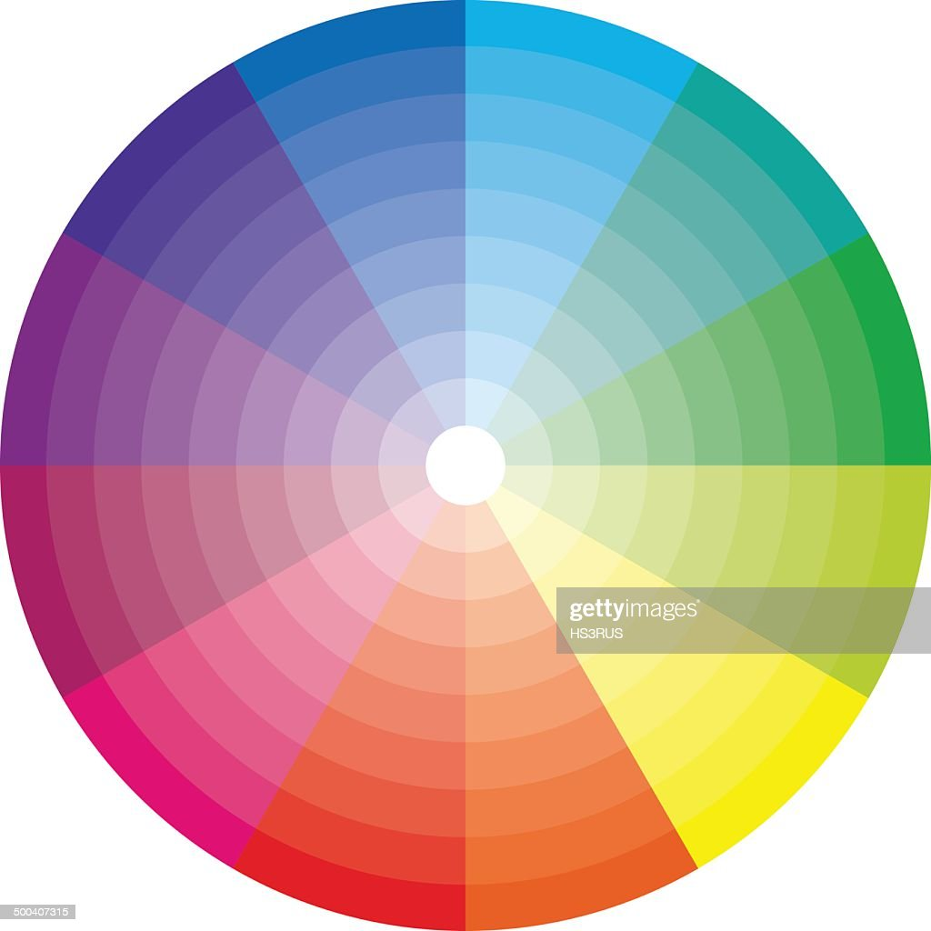 Color wheel with shade of color
