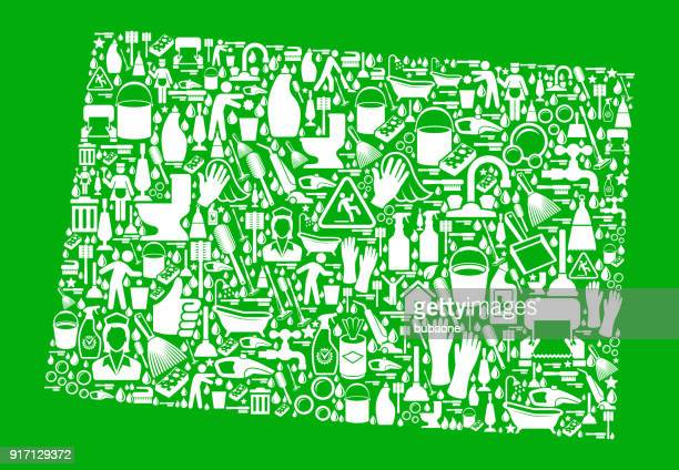 colorado cleaning and chores green vector icon pattern - paper towel stock illustrations, clip art, cartoons, & icons