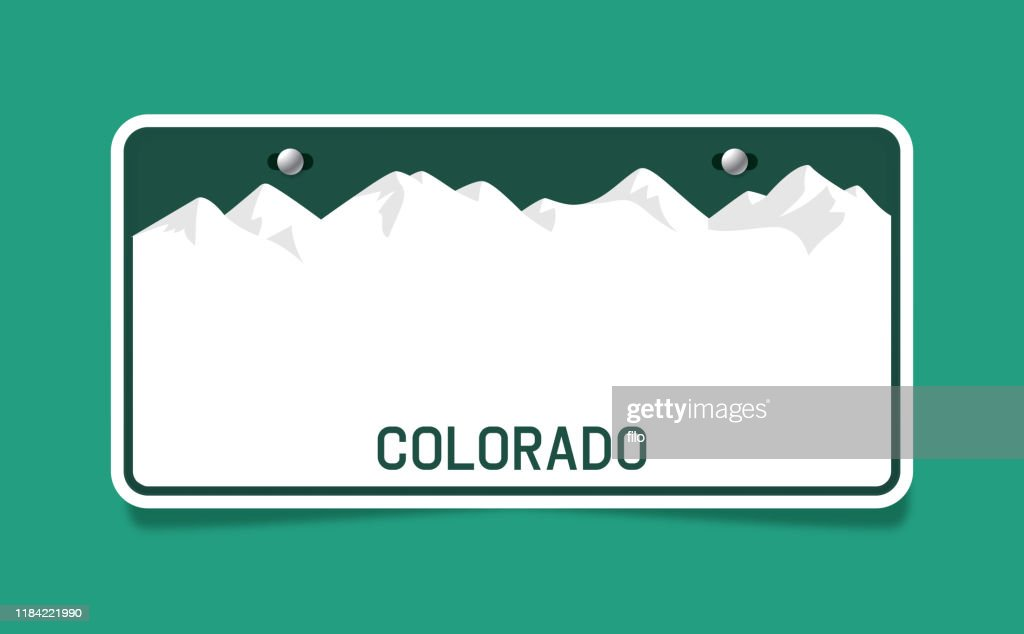 Colorado License Plate Template High Res Vector Graphic Getty Images