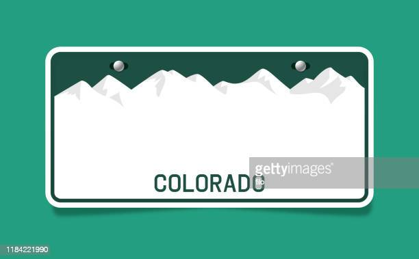 colorado license plate template - colorado stock illustrations