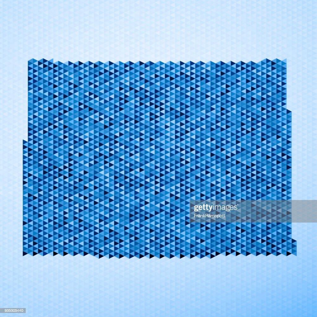 Colorado Karte Dreieck Muster Blau : Stock-Illustration
