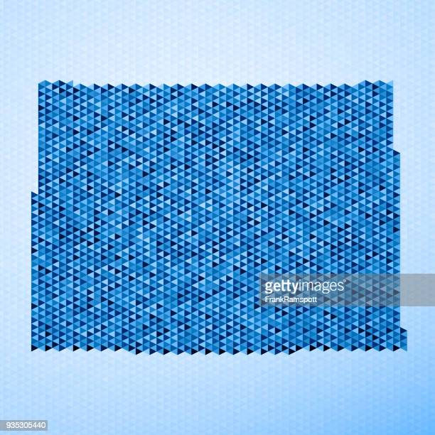 Colorado Karte Dreieck Muster Blau