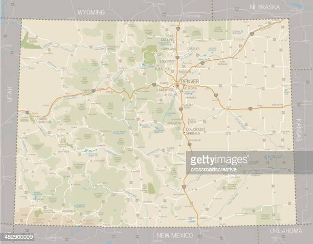 colorado map - colorado stock illustrations