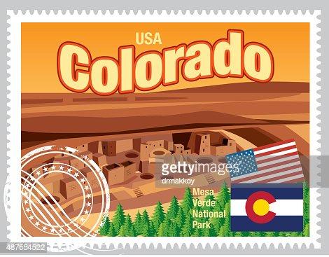 Colorado Stamps Vector Art
