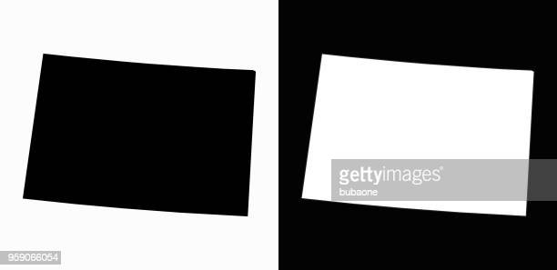 colorado state black and white simple map - colorido stock illustrations