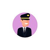 colored avatar of pilot icon. Element of colored people profession icon for mobile concept and web apps. Detailed colored avatar of pilot icon can be used for web and mobile
