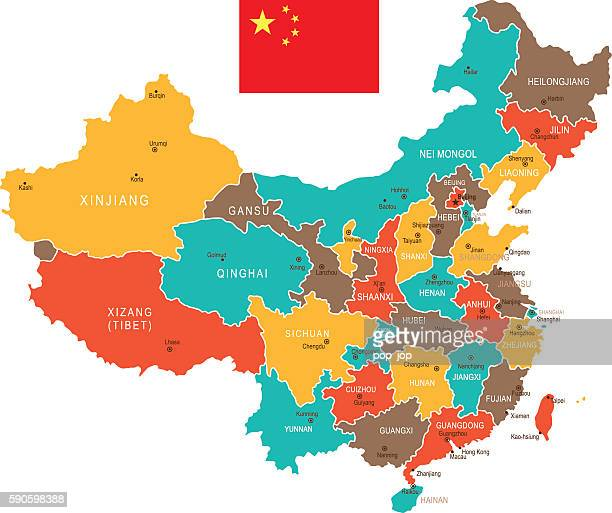 Colored China Map