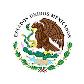 Colored coat of arms of Mexico